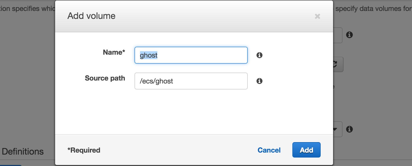 Ghost volume